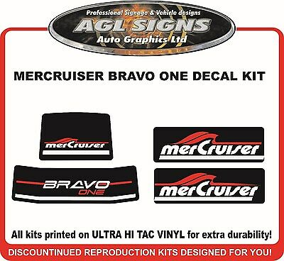 Mercury Bravo One Outdrive Reproduction Decal Kit   Mercruiser