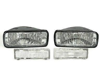 DEPO Pair of Clear Bumper Signal + Side Marker Light For 1985-1992 Chevy Camaro