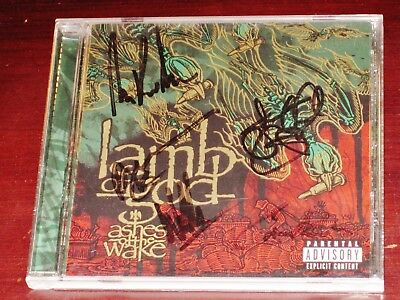Lamb Of God: Ashes Of The Wake CD PA 2004 Sony, Epic USA w/ BAND-SIGNED BOOKLET