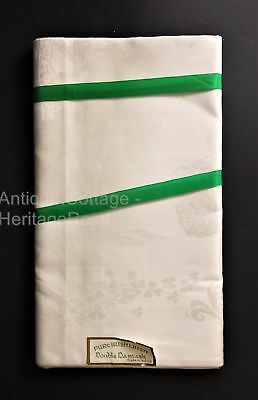 antique PURE IRISH LINEN DAMASK white nos 12 NAPKINS ireland country killarney