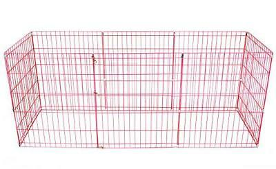 30-Pink Tall Dog Playpen Crate Fence Pet Kennel Play Pen Exercise Cage -8 Panel