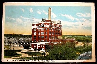 NEW BRAUNFELS, TX, Electric Power Plant, Landa Park, Texas 1928
