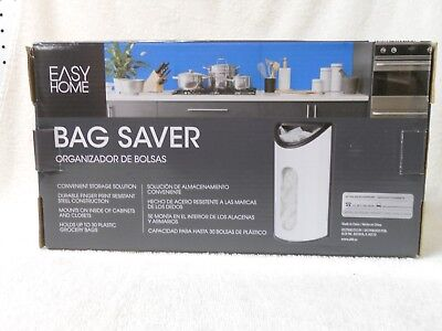Easy Home plastic Bag Saver container bin to hold sacks from grocery store new
