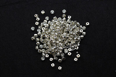 1000 pcs Loose  crystal rhinestone sew on rhinestone SS25 Silver