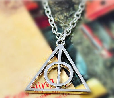 1pc Movie Harry Potter Deathly Hallows Hot Metal Silver Gift Pendant Necklace