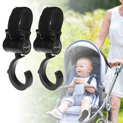 Baby Stroller Hook 360 Basket Strap Bag Hanger Grip Accessories Multifunctional