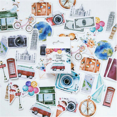 42 pcs Travel Around World Famous Building Craft Scrapbook Decorative Stick W6A4
