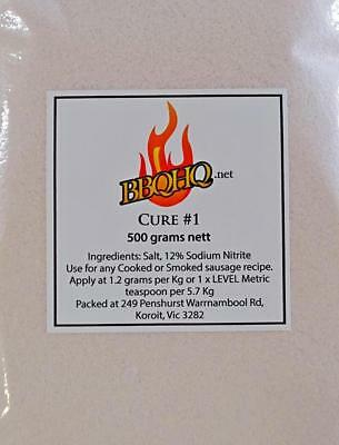 Meat Cure Salt #1 (12%) 500g Jerky Ham & Bacon, Insta-Cure, Pink Salt, *EXPRESS