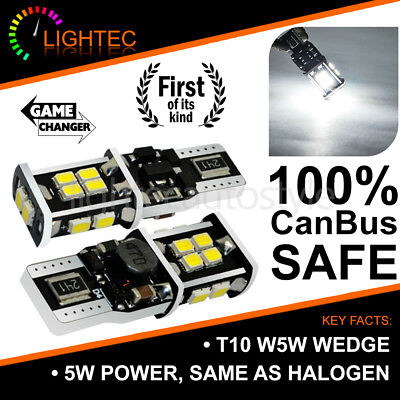 100% Canbus 5W Error Free 14Smd Led Pure Cree White W5W T10 501 Side Light Bulbs