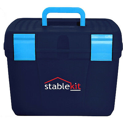 Stable Kit Tack And Unisex Horse Care Grooming Box - Navy One Size