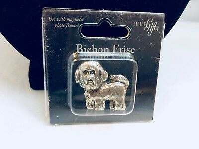 Nib Little Gifts Pewter Bichon Frise Terrier Dog Magnet