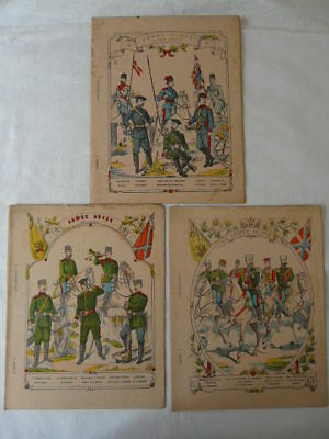 Lot Cahiers Écoliers Fin Xix°  Couvertures Armee Russe ... Troupes Cosaques ...