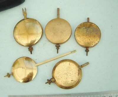 Clock makers 5 Westminster Chime clock pendulum with adjuster rods repairer spar