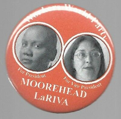 Moorehead And Lariva Workers World Party Communist Political Pin