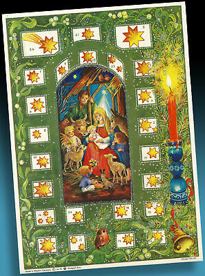 ALTER ADVENTSKALENDER 70er >  RS STUTTGART ROHR 44 WESTERN GERMANY