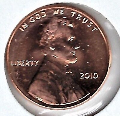 2010 P Lincoln Shield Penny, Cent, Nice & Shiny BU Coin,  #4508