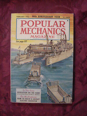 POPULAR MECHANICS Magazine February 1952 Minesweepers Daniel Boone VI