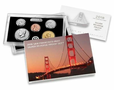 2018-S Silver Reverse Proof Set In U.s. Mint Packaging / In Hand - Ready-To-Ship