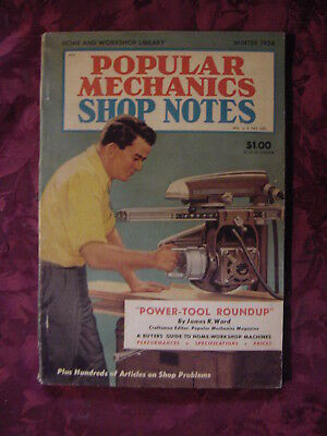 Popular Mechanics Magazine Shop Notes Special Issue Fall Winter 1954