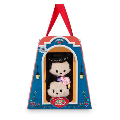Disney Store Mickey and Minnie Mouse ''Tsum Tsum'' Plush Set - Mexico