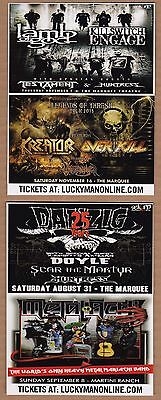 Kreator Overkill Lamb of God Danzig Killswitch Engage 2013 US concert promo card
