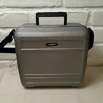 Aladdin Lunch Box Silver Heavy Duty Plastic Insulated Cooler Strap Vintage 90s