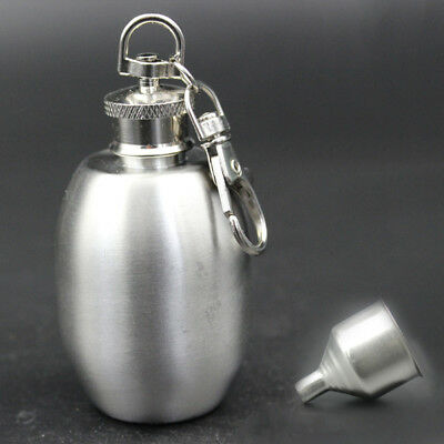 2OZ Portable Stainless Steel Alcohol Outdoor Drink Hip Flagon Bottle W/ keychain