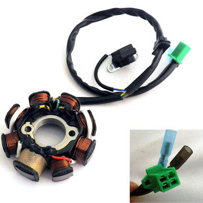 DC Ignition Stator Magneto Coil Generator 8Poles For GY6 150cc 125cc Scooter ATV