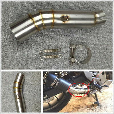 Stainless Steel 51mm Motorcycle ATV Exhaust Middle Mid Pipe Connector For Honda