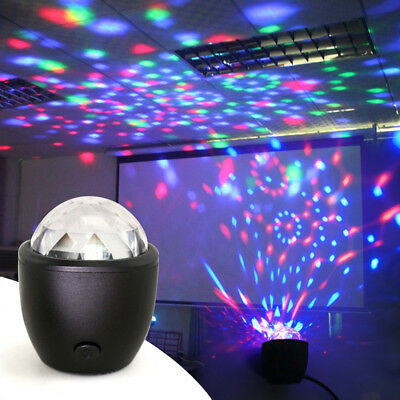 Disco Light Flashing Mini USB Powered LED Lamp Atmosphere Voice Activated Party