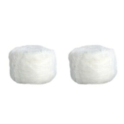 2pcs Fluffy Bar Stool Slip On Round Seat Cover Footstool Chair Slipcovers White