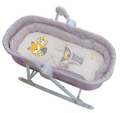 Tigex Honey Forest Babywippe Schaukel Babyliege mit Spielbogen, 2-in-1 grau/beig