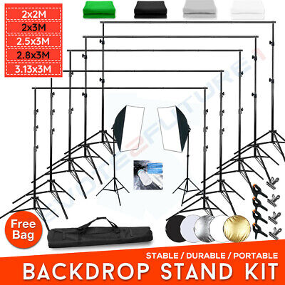 Photography Studio Backdrop Support Stand Screen Muslin/Non-woven Background Kit