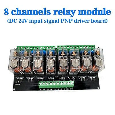 8 Channel Relay Driver Board Module DC 24V PNP - Prolong Relays Life