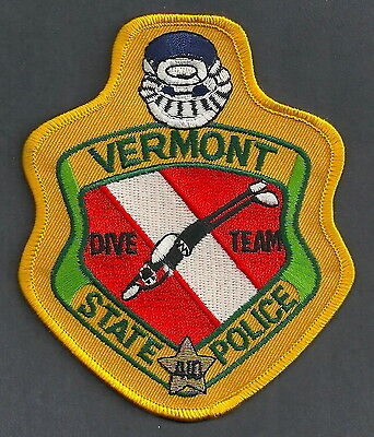 Vermot State Police Dive Team Patch
