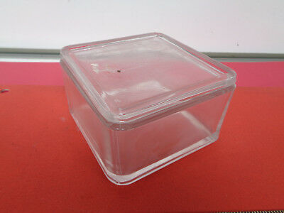 Lab Square glass staining jar with lid 119mm x 119mm x 74mm LOTNJRBG59