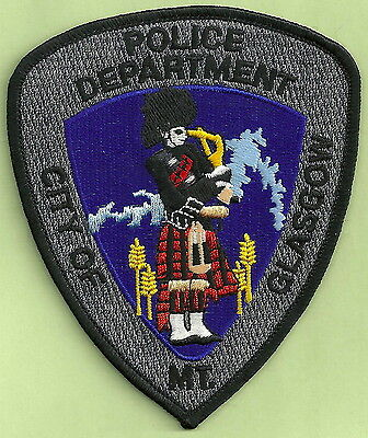 Glasgow Montana Police Patch Bagpipe Player!