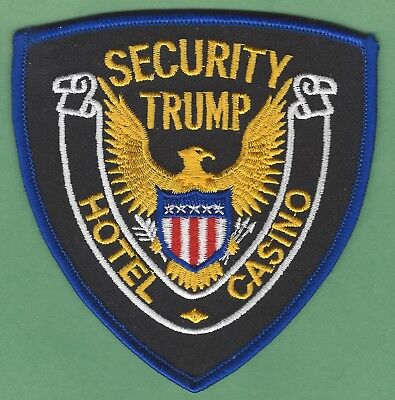 Trump Hotel & Casino Atlantic City New Jersey Security Police Patch