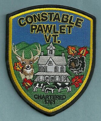 Pawlet Constable Vermont Police Patch