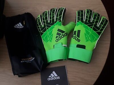 new concept 97425 ff133 ADIDAS ACE TRANS fs Pro Goalkeeper Gloves - Energy Aqua/Energy GREEN/Legend  Ink