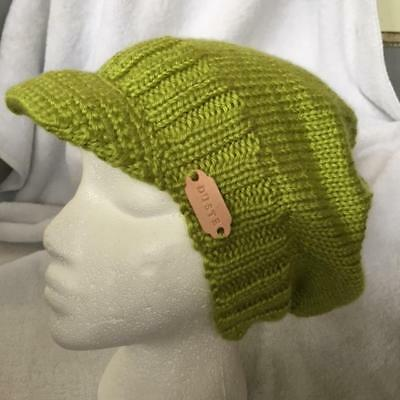 "#7 Hand Knitted ""Duste"" Slouchy Beanie Unisex Adult Lime Color by Duste"