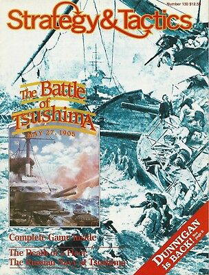 Strategy & Tactics S&T#130 Battle of Tsushima Russo-Japanese War Unpunched  FS