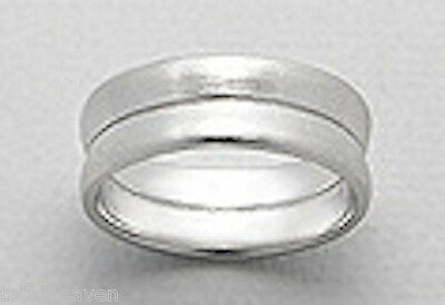 7mm Wide 4.4g Solid Sterling Silver SIMPLE /& BEAUTIFUL Wedding Band Ring size 6