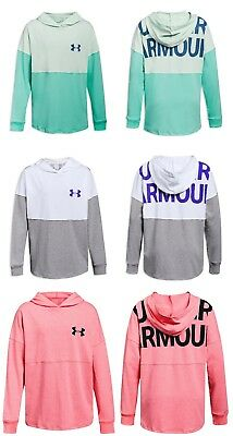 New Under Armour Big Girls Colorblocked Finale Hoodie Choose Size MSRP $35.00