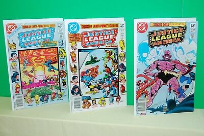 DC Justice League of America issues #206-207-208  Unread BXA