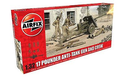 AIRFIX A06361 17 POUNDER ANTI-TANK GUN & CREW Plastic Model Kit For 6 Crew 1 Gun