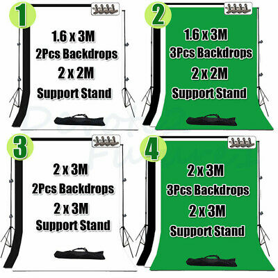 Photo Studio Backdrop Screen Background Crossbar Adjustable Support Stand Kit