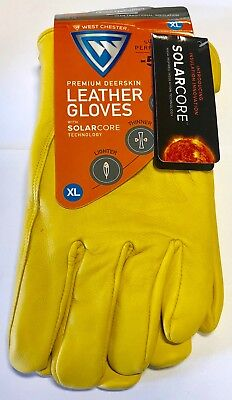 West Chester Cold Weather Gloves Deerskin Leather Solarcore Technology Size XL