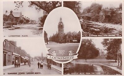 Lockerbie - Lovely Real Photo Multi View  By Halliday 1926