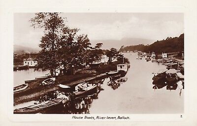 Balloch, House Boats On The River Leven - Lovely Real Photo